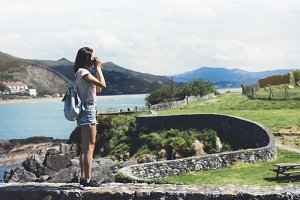 Tourist traveler photographer