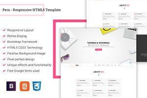 Pera - Responsive HTML5 Template