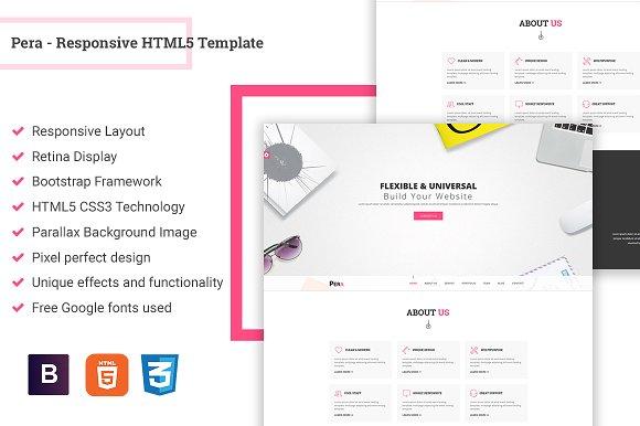 Pera - Responsive HTML5 Template ~ HTML/CSS Themes ~ Creative Market