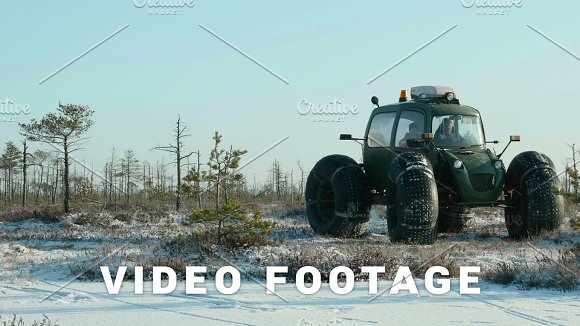 Researchers In National Reserve Clean And Frosty Daytime Smooth Dolly Shot