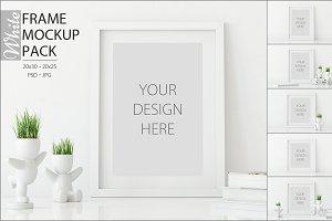 White Frames Mockup - PACK