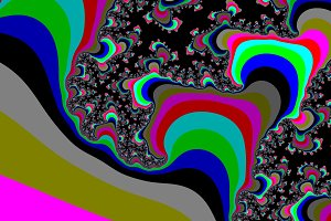 Colour fractal background