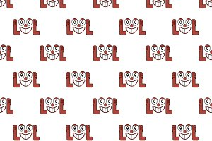 Laughing Out Loud Emoji Pattern