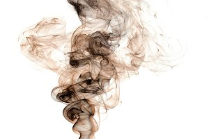 Real smoke shape, colored in brown