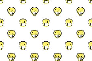 Angry Emoji Graphic Seamless Pattern