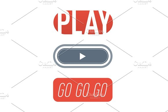 UI Interface Button Play Media Internet Isolated Website Online Concept Element Sign And Online Tube Player Approved Mark Click Icon Vector Illustration