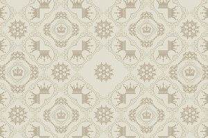 Royal pattern, vector