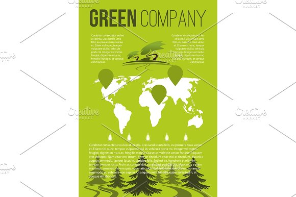 Green Company Vector Brochure Template