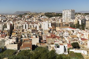 View of Alicante in Spain.