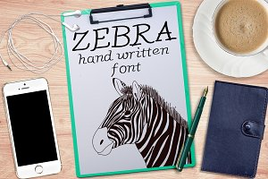 Zebra - Font No.8