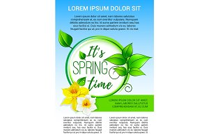 Vector poster for spring time holiday greeting
