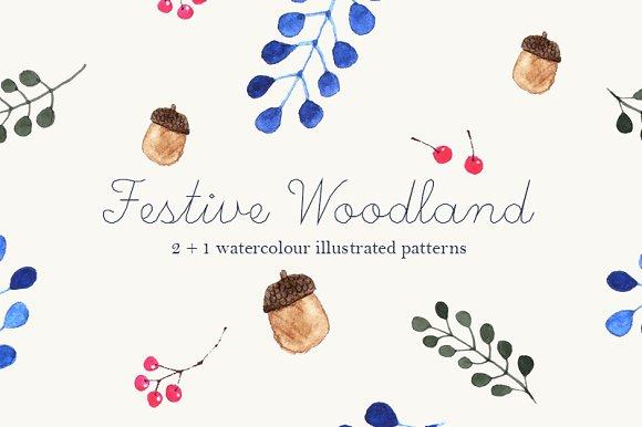 Festive Woodland Patterns