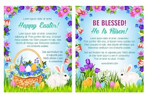 Easter spring holidays poster template design