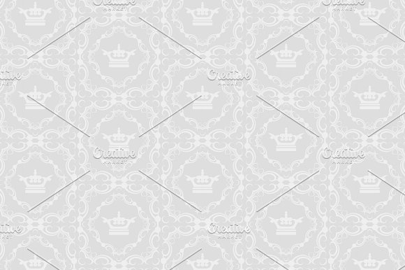 Seamless Patterns With Crown