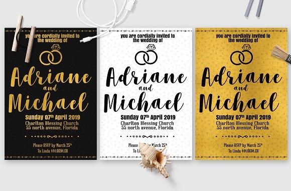 Simple Wedding Invitation Card
