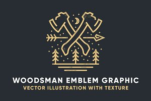 Woodsman Emblem Graphic