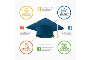 Student Hat Menu Infographic Banner