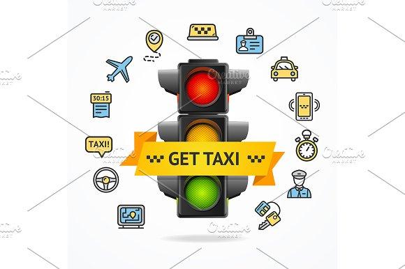 Get Taxi Concept Vector
