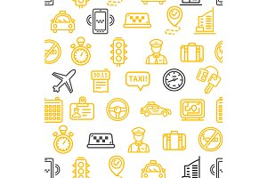 Taxi Services Pattern Background.