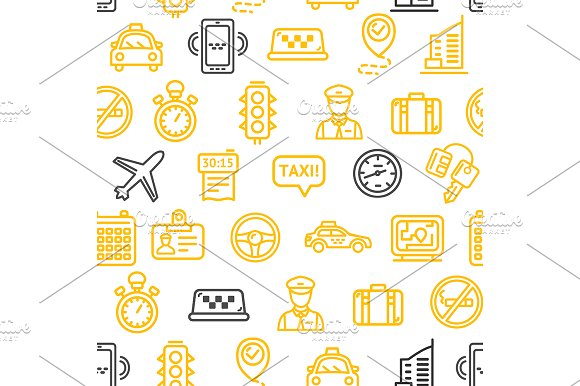 Taxi Services Pattern Background