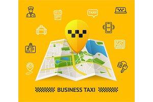 Taxi Services Concept. Vector