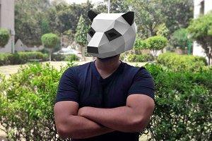 DIY Panda mask - 3d papercrafts