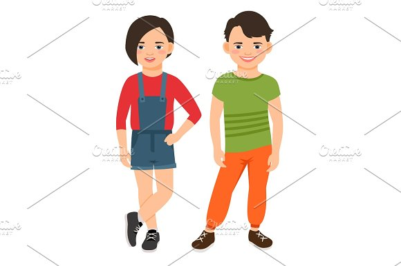 Fashion Teen Boy And Girl Characters