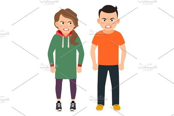 Arguing Children Characters