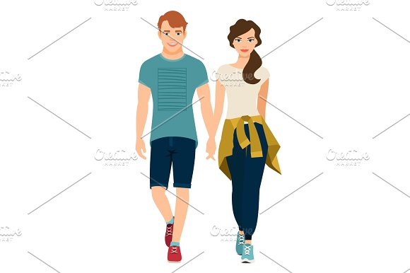 Young Couple In Sport Style Outfit