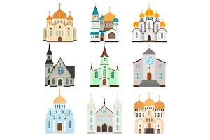 Christian sanctuary building icons