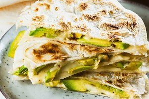 Mexican avocado quesadilla