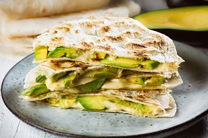 Quesadilla with avocado