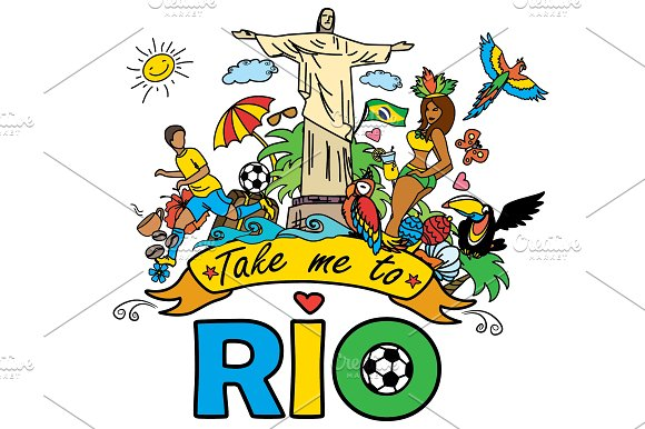 Cartoon SET Brazil and Rio in Graphics - product preview 1
