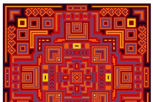 Decorative geometric ethnic pattern