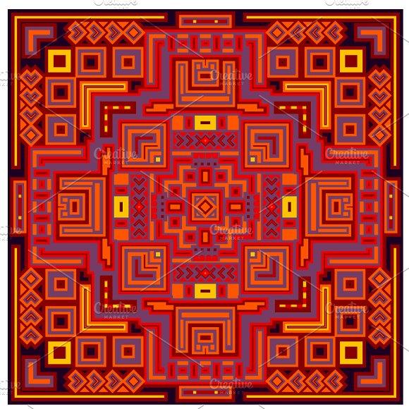 Decorative Geometric Ethnic Pattern