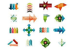 Set of vector geometrical infographic templates