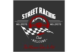 Street Racing club badge and design elements.