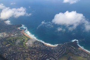Coastline from above
