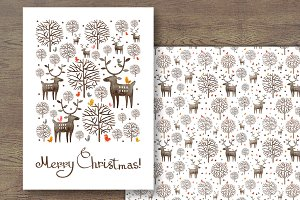 Watercolor Merry Christmas card