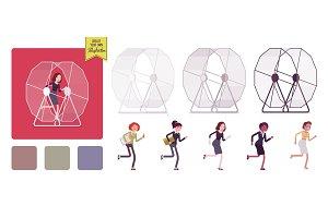 Women in the hamster wheel