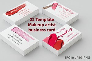 Templates  Makeup business card.