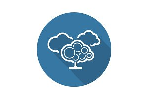 Cloud Services Icon. Flat Design.