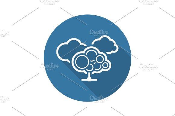 Cloud Services Icon Flat Design