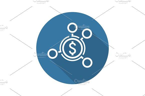 Money Distribution Icon Flat Design