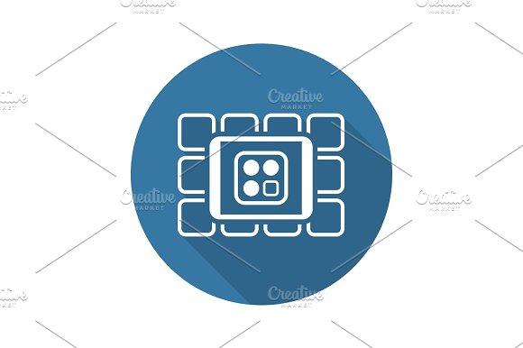 Online Services Icon Flat Design