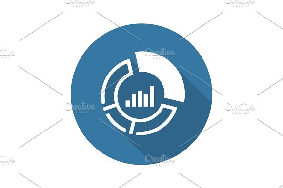 Market Share Icon Business Concept Flat Design