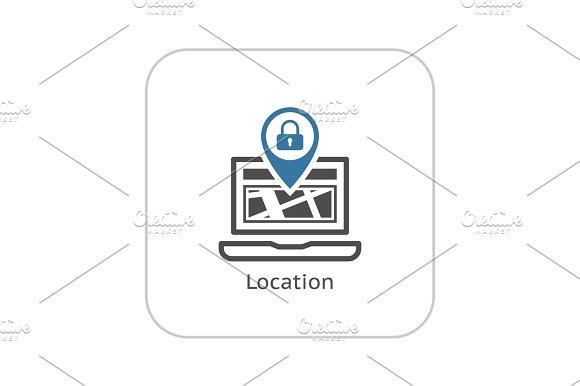 Location Icon Flat Design
