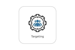 Targeting Icon. Flat Design.