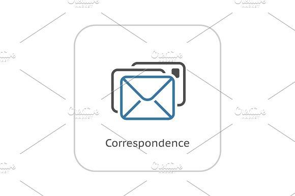 Correspondence Icon Flat Design