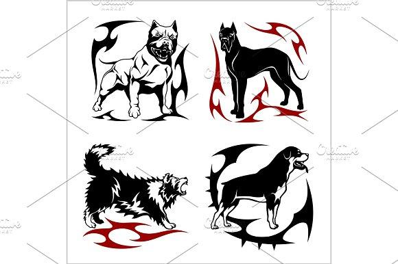 Tribal Dog Design Vector Illustration